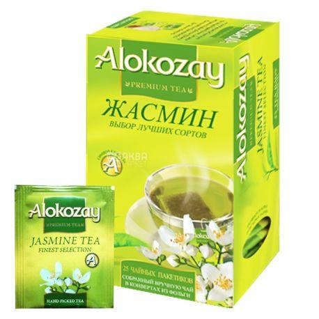 Alokozay, 25 пак, Чай зеленый Алокозай, с жасмином