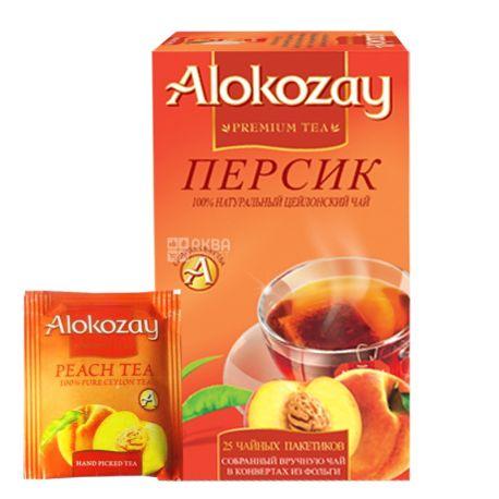 Alokozay, 25 шт., чай черный, с персиком