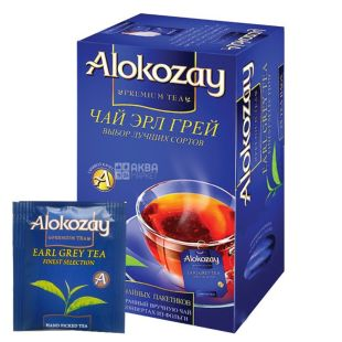 Alokozay, 25 шт., чай чорний, Ерл Грей, З бергамотом