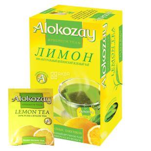 Alokozay, 25 пак, Чай зеленый Алокозай, с лимоном