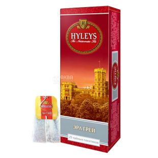 Hyleys Earl Grey Tea, 25 пак, Чай черный Хэйлис, Эрл Грей Ти, с бергамотом