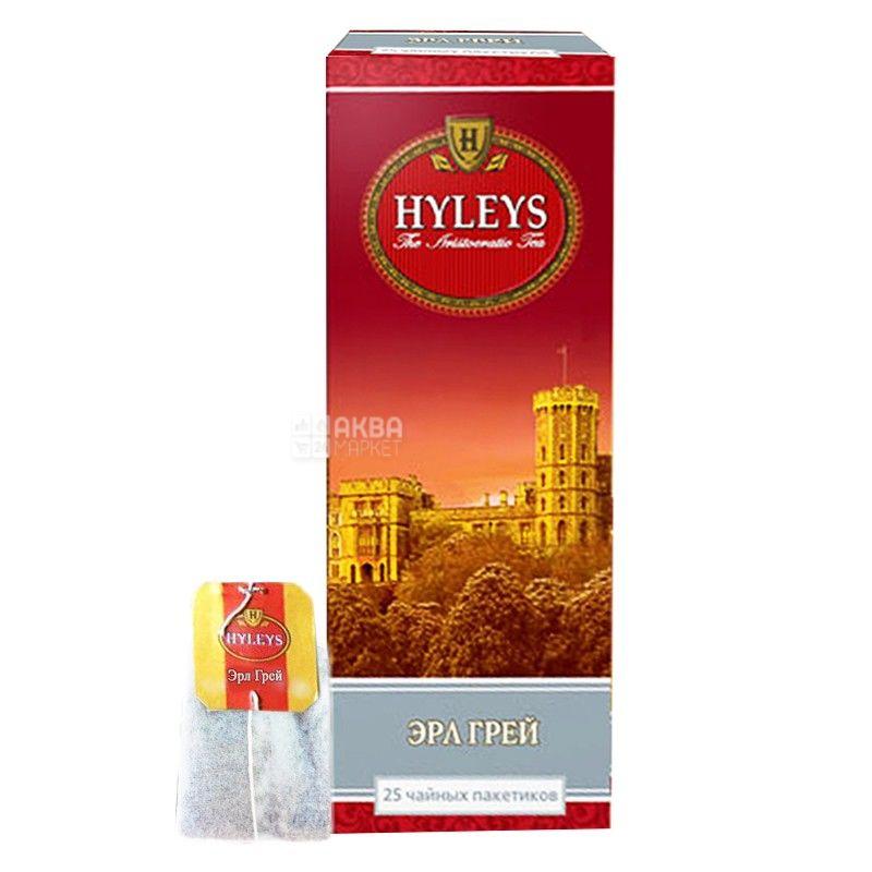 Hyleys Earl Grey Tea, 25 пак, Чай чорний Хейліс, Ерл Грей Ти, з бергамотом