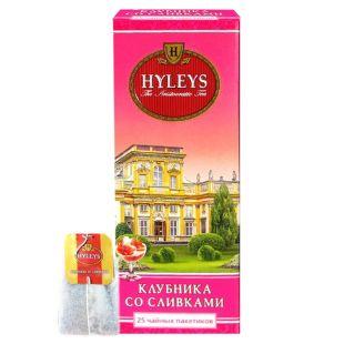 Hyleys Strawberry with Cream, 25 пак, Чай черный Хэйлис, Клубника со сливками