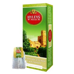Hyleys English Green Jasmine, 25 пак, Чай зелений Хейліс Інгліш Грін Жасмин