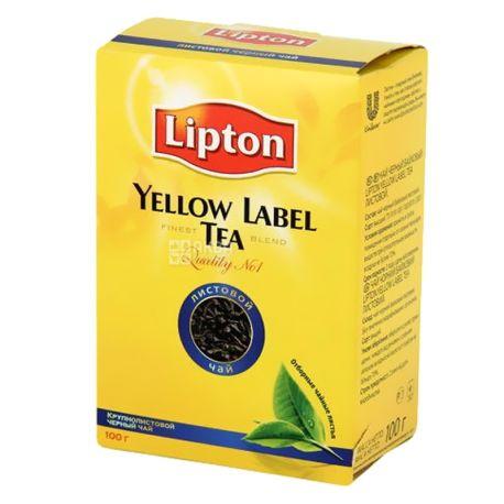 Lipton, Yellow Label, 100 г, Чай Липтон, Черный