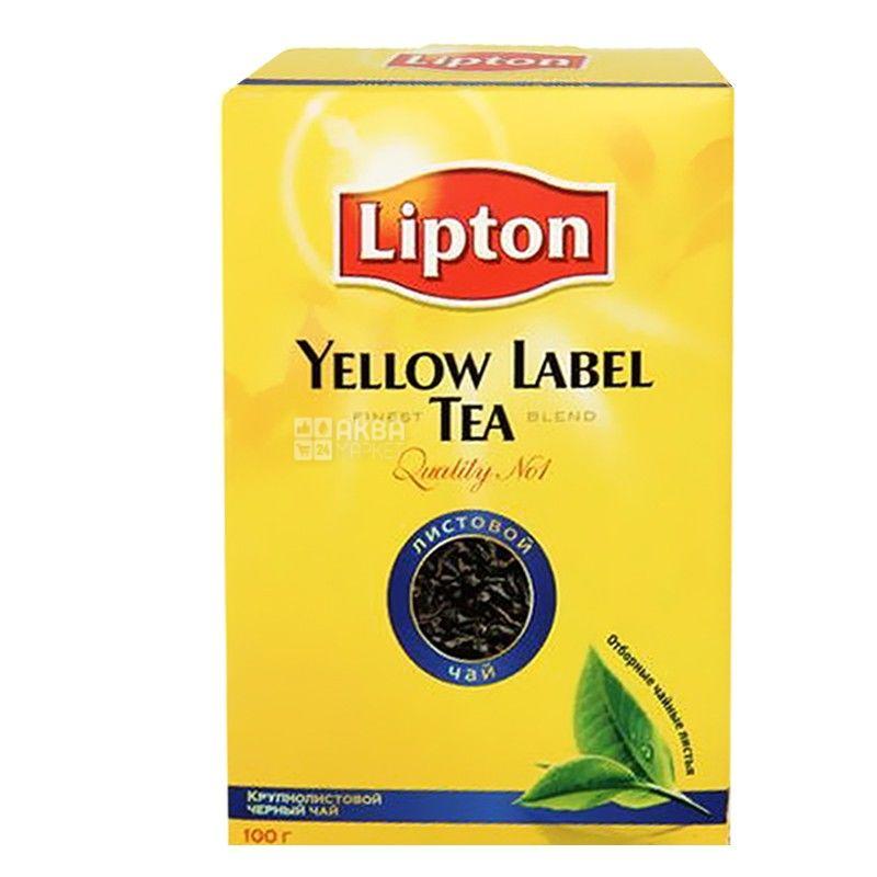 Lipton, Yellow Label, 100 г, Чай Ліптон, Чорний
