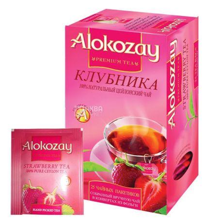 Alokozay, 25 пак, Чай черный Алокозай, с клубникой