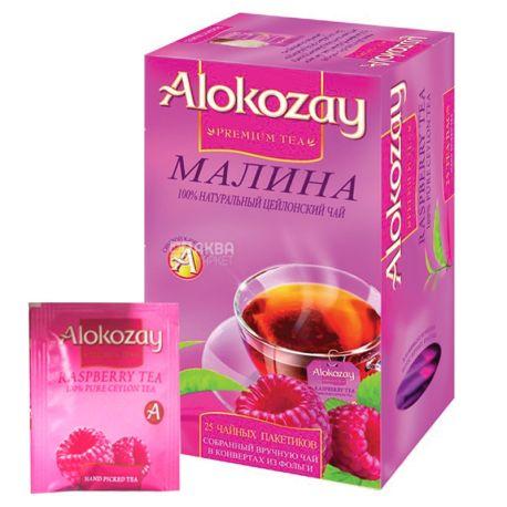 Alokozay, 25 пак, Чай черный Алокозай, с малиной