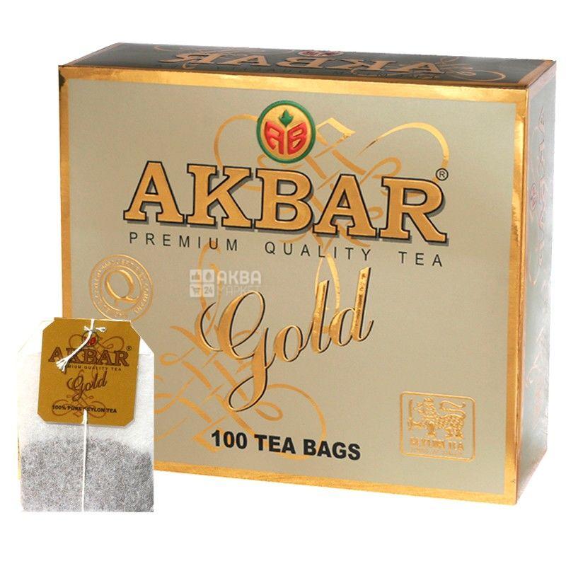 Akbar Gold, 100 пак, Чай черный Акбар Голд с молодыми чайными почками, типсами