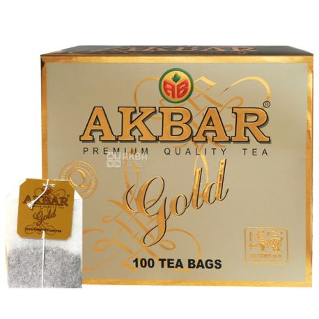 Akbar, 100 шт., чай черный, GOLD