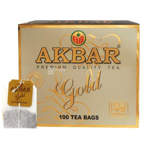 Akbar Gold, 100 пак, Чай чорний Акбар Голд з молодими чайними бруньками, тіпсами