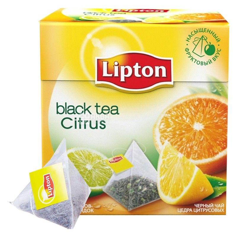 Lipton, 20 шт., чай черный, Citrus black tea
