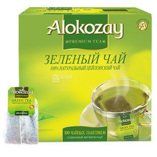 Alokozay, 100 пак, Чай зеленый Алокозай
