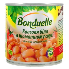 Bonduelle, 425 мл, фасоль белая, в томатном соусе