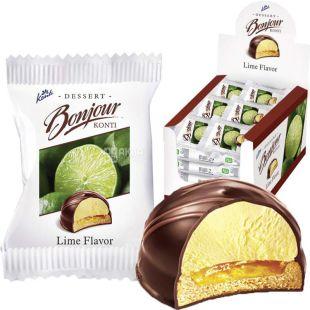 Bonjour, Lime, 29 г, Десерт со вкусом лайма