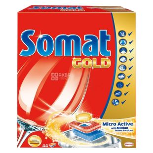 Somat, 44 шт., таблетки для ПММ, Gold