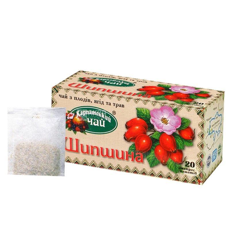 Карпатський, 20 шт., чай з шипшиною