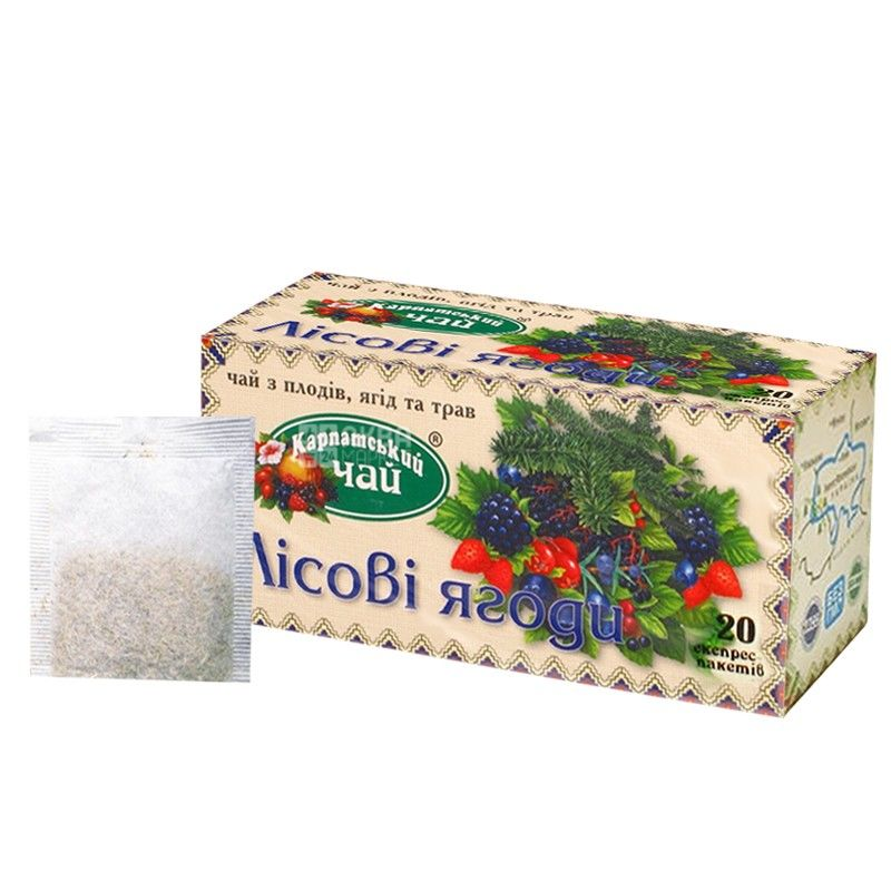 Карпатский, 20 шт., чай, лесные ягоды
