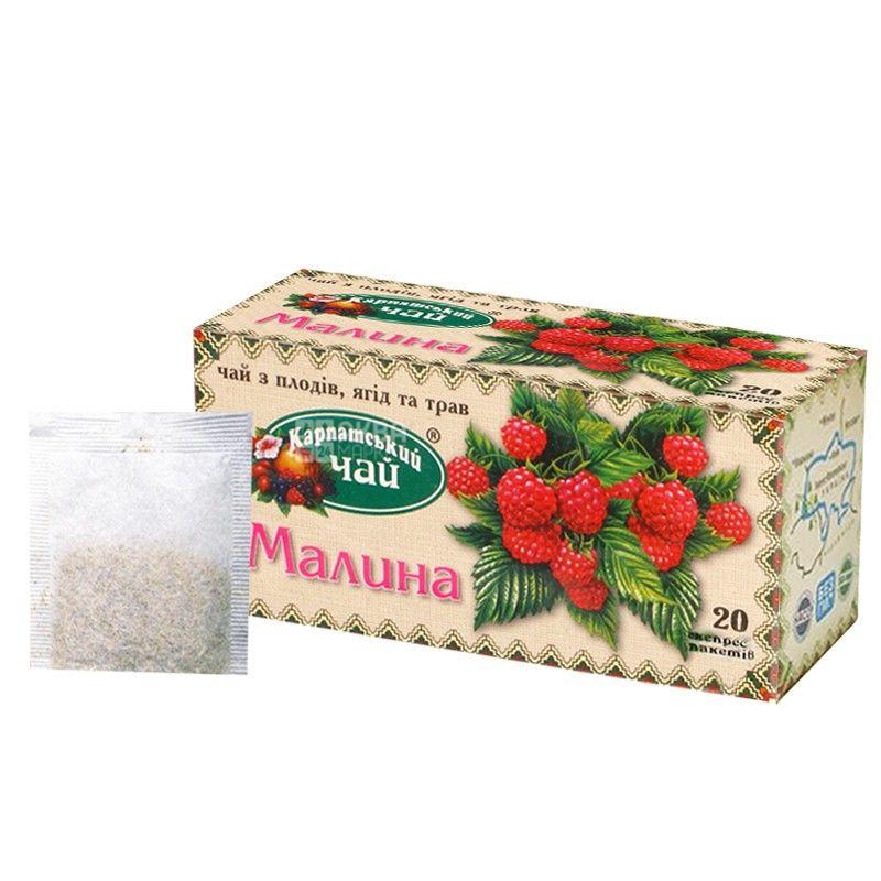 Carpathian, 20 pcs., Tea, raspberries