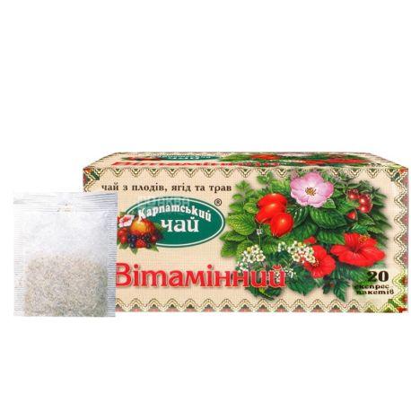 Карпатський, 20 шт., чай, Вітамінний