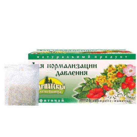 Карпатская Лечебница, Для нормализации давления, 25 пак., Чай лечебный на травах