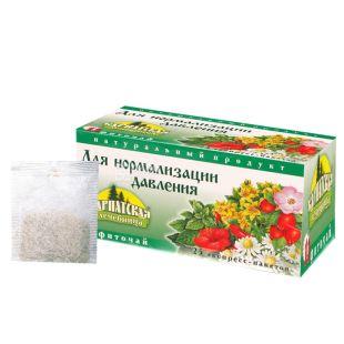 Карпатська Лічниця, Для нормалізації тиску, 25 пак., Чай лікувальний на травах