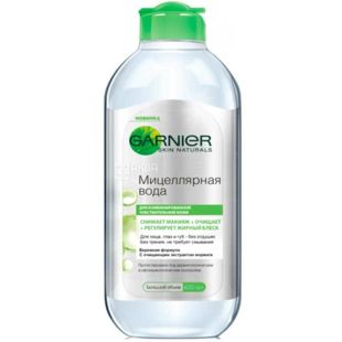 Garnier Skin Naturals, 400 мл, мицеллярная вода для очищення обличчя