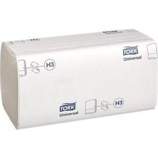 Tork Universal, 250 аркушів, Рушники паперові Торк, ZZ-складення, одношарові, білі, 25 х 23 см