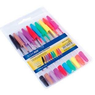 Economix, 10 шт., Ручки кулькові кольорові