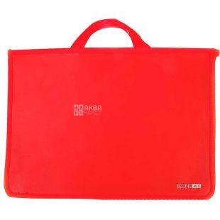 Economix, Портфель пластиковий А4 на блискавці, червоний