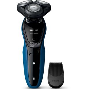 Philips Series 5000 S5250 / 06, Rotary electric shaver, for wet and dry shaving