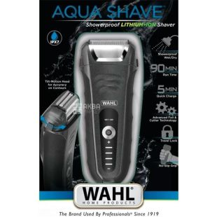 MOSER WAHL Aqua Shave 07061-916, Electric shaver, wet and dry shave