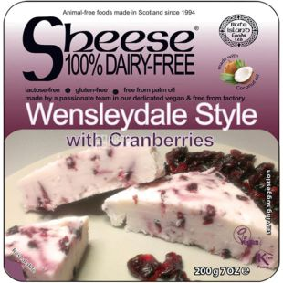 Bute Island, Wensleydale-style, 200 g, Vegan Cheese, with Cranberries
