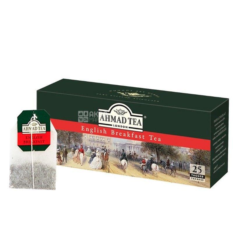 Ahmad Tea English Breakfast, 25 пак, Чай черный Ахмад Ти Инглиш Брекфаст