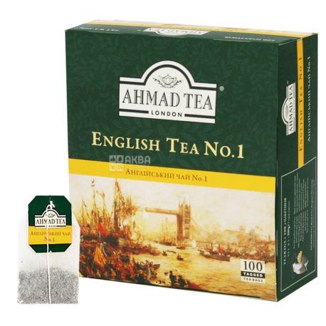 Ahmad English Tea №1, 100 пак, Чай черный Ахмад Инглиш Ти с бергамотом