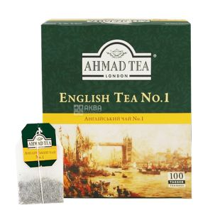Ahmad, 100 pcs., Black tea, English Tea №1, With bergamot