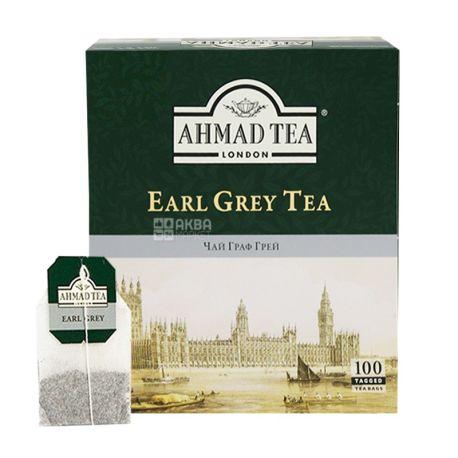 Ahmad Tea Earl Grey, 100 пак, Чай черный Ахмад Ти Эрл Грей
