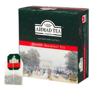 Ahmad Tea English Breakfast, 100 пак, Чай черный Ахмад Ти Инглиш Брекфаст