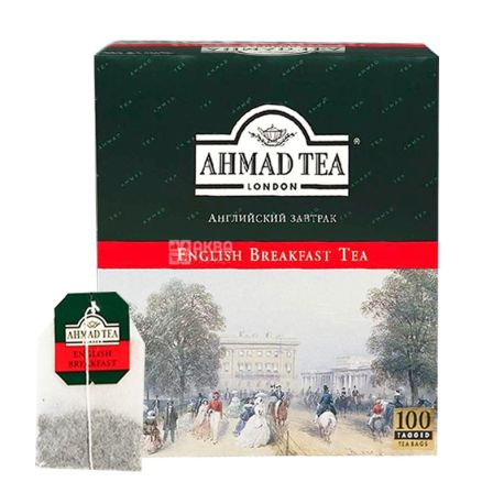Ahmad Tea English Breakfast, 100 пак, Чай чорний Ахмад Ті Інгліш Брекфаст