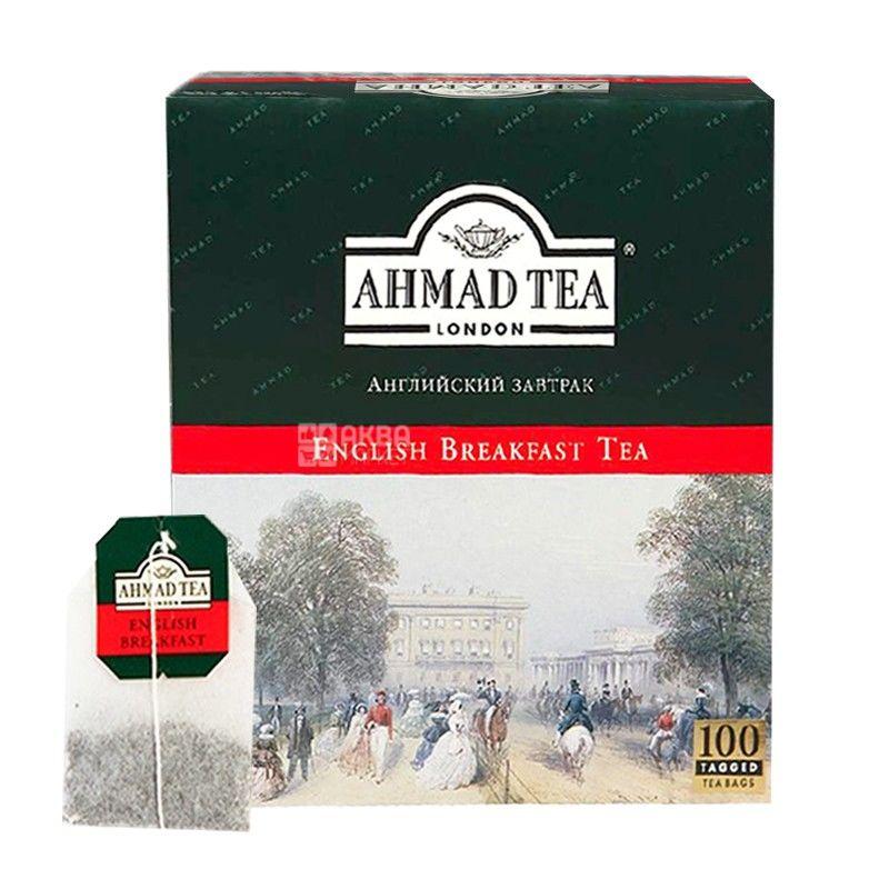 Ahmad Tea English Breakfast, 100 пак, Чай черный Ахмад Ти Инглиш Брекфаст