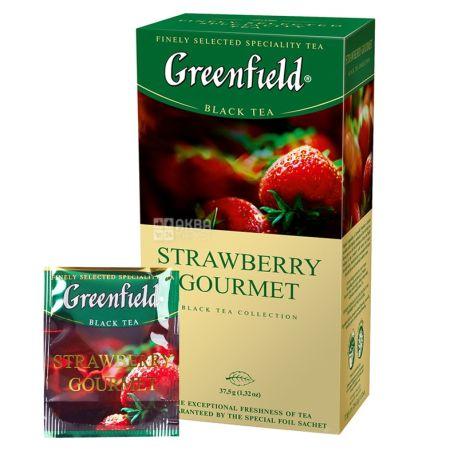Greenfield, 25 шт., чай черный, Strawberry Gourmet