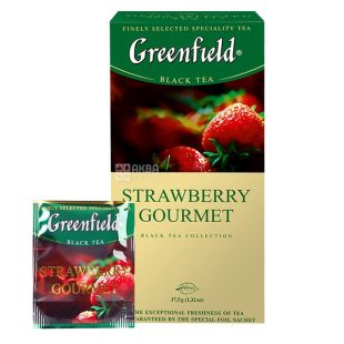 Greenfield, Strawberry Gourmet, 25 пак., Чай Грінфілд, чорний з полуницею