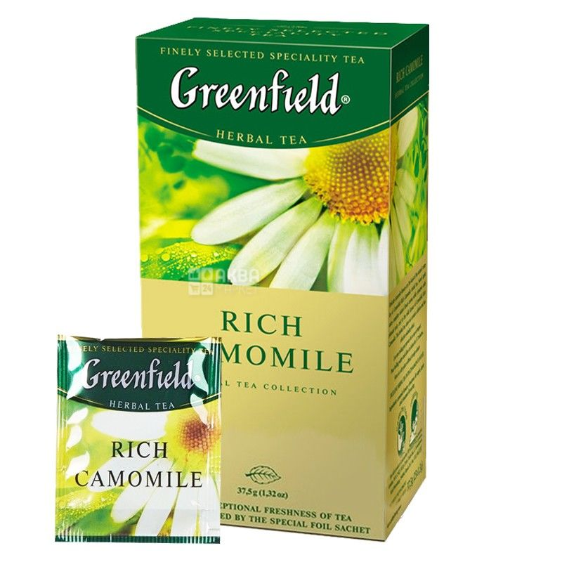 Greenfield, Rich Camomile, 25 пак., Чай Грінфілд, трав'яний з ромашкою