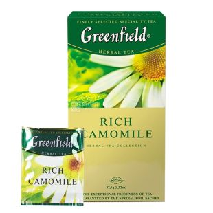Greenfield, Rich Camomile, 25 пак., Чай Гринфилд, травяной с ромашкой