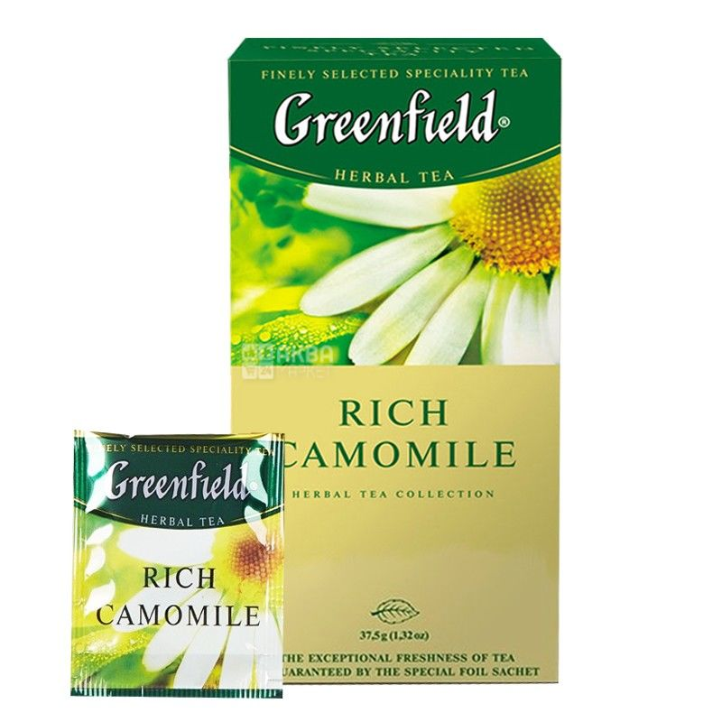 Greenfield, 25 шт., чай травяной, Rich Camomile