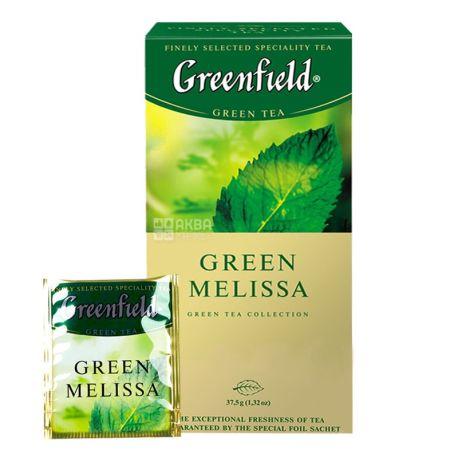 Greenfield, 25 шт., чай зеленый, Green Melissa