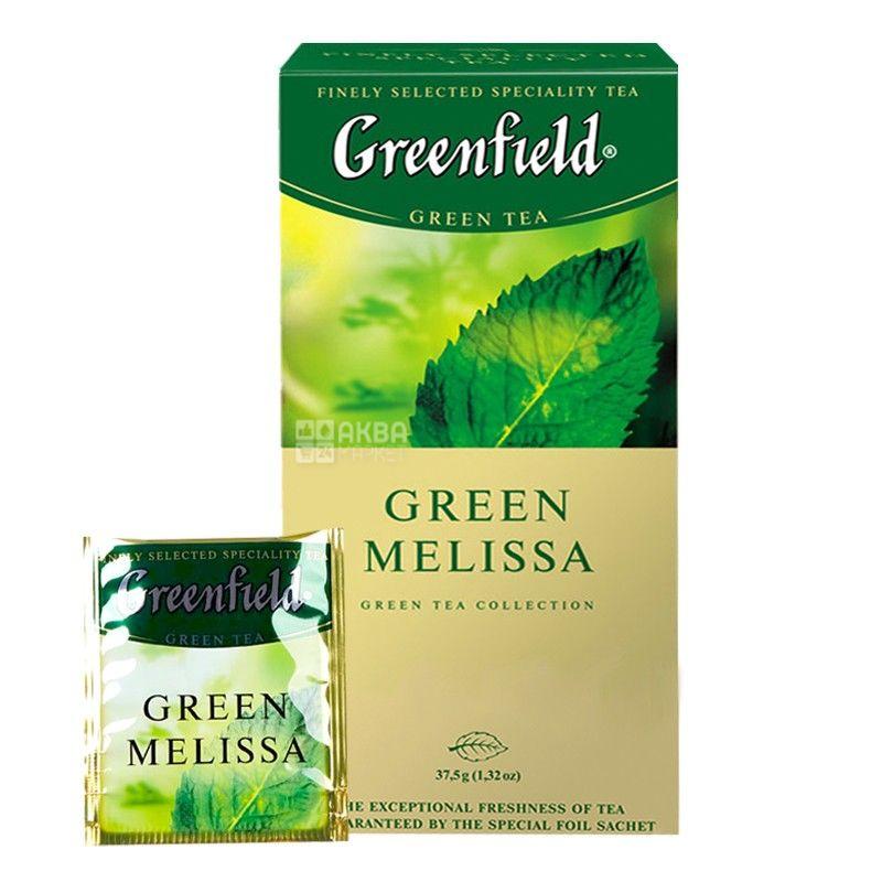 Greenfield чай Green Melissa, 25 пакетов