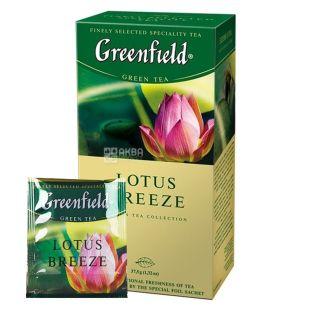 Greenfield 25 шт., чай зеленый, Lotus Breeze