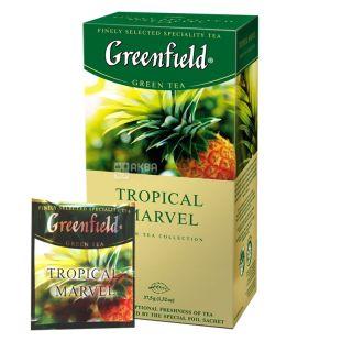 Greenfield, Tropical Marvel, 25 пак., Чай Гринфилд, Тропикал Марвел, зеленый