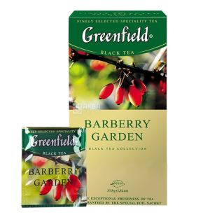 Greenfield, Barberry Garden, 25 пак., Чай Гринфилд, черный с барбарисом